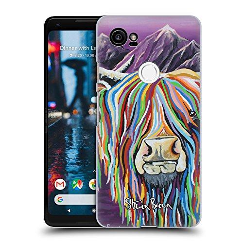 Offizielle Steven Brown Wullie & Maggie Hochland Kuh Sammlung 2 Ruckseite Hülle für Google Pixel 2 XL (Taschen Brown Maggie)