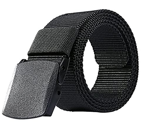 ALAIX Canvas Tactical Belt for Women Mesh Woven Belt with Double Plastic buckles