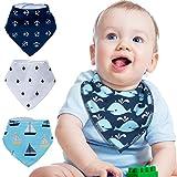 ZeWoo 4er Baby Dreieckstuch Lätzchen Spucktuch, Unisex Geschenk Set für Spülung und Zahnen, 100%...