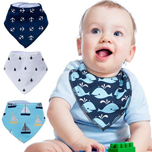 ZeWoo 4er Baby Dreieckstuch Lätzchen Spucktuch, Unisex Geschenk Set für Spülung und Zahnen, 100% Bio-Baumwolle, weich und saugfähig, hypoallergen - für Jungen und Mädchen