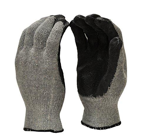 G & F 3108-12große Latex getaucht mit Nitril beschichtet String Knit Palm Arbeitshandschuhe-Blau (10Paar) -