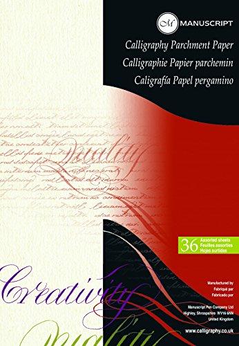 Manuscript Block mit Pergamentpapier für Kalligrafie A4
