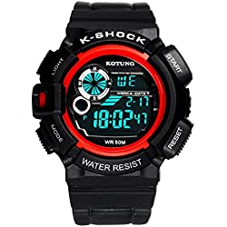 Mens waterproof digital watches/Multifunctional outdoor sports watches/Casual fashion watches-B