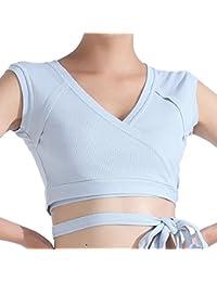 Yujeet Mujer Verano Escote En V Fitness Elastico Sujetador Deportivo Casual Sin Aros Sujetador Deportivo