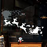 Lifetrend 2017 Christmas Decoration Decal Window Stickers Home Decor (White)
