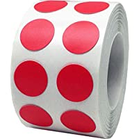 Rojo Circulo Punto Pegatinas, 13 mm 1/2 Pulgada Redondo, 1000 Etiquetas en un Rollo