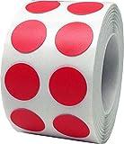 Rot Kreis Punkt Aufkleber, 13 mm 1/2 Zoll Runde, 1000 Etiketten auf einer Rolle