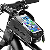 ROCKBROS Fahrrad Rahmentasche Oberrohrtasche Wasserdicht Kopfhörerloch 6,0 Zoll Handytasche TPU Touchscreen Reflektierend