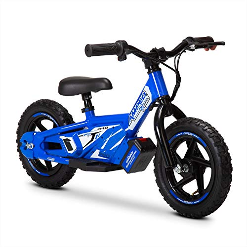 Amped A10 Black 100w Electric Kids Balance Bike Lithium Removable Battery (Blue)