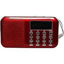Timorn Tragbares Digital Radio FM radiomit usb anschluss MP3 Musik Spieler Medien Lautsprecher Unterstützungs TF Karte / USB Disk mit LED Screen Display und Nottaschenlampe Funktion