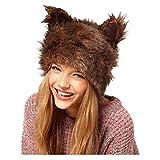 foreverH Damen Herren Hut FORH Süße Tier Ohren Beanie Hüte Unisex Warm Winter Hut Weihnachten Hut Halloween Festliche Party Hat Fleece-Futter Wintermütze