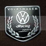 VOLKSWAGEN RACING SPORT BADGE EMBLEM VW GOLF blk GTI VR6 R32 MK 2 3 4 R LINE