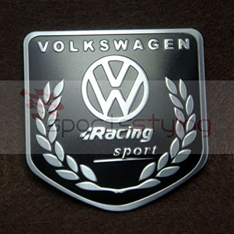 Volkswagen Racing Sport Badge pour VW Golf BLK / GTI / VR6 / R32 / MK 2, 3, 4 / R LINE