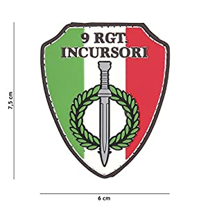 Patch 3D PVC Bouclier Italie 9RGT. Incursori / Cosplay / Airsoft / Camouflage