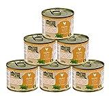 Dehner Fine Nature Katzenfutter Adult, Lebensmittelqualität, Huhn, 6 x 200 g (1200 g)