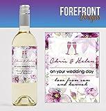 Personalizado 'On YOURWEDDING DAY' botella de vino especial