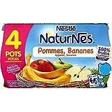 Nestlé naturnes compote de pommes bananes 4 x 130g dès 4/6 mois - ( Prix Unitaire ) - Envoi Rapide Et Soignée