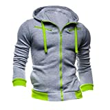 SODIAL(R) Chic Zippe Homme Cardigan a Capuche Mode Manteau Neuf ...