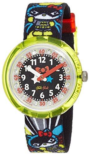 HELLO KITTY BATGIRL Uhr Mädchen Kinderuhr Stoffband Kunststoff 30m Analog mehrfarbig ()