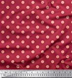 Soimoi Rosa Kunstseide Stoff Polka dots Stoff Meterware 56