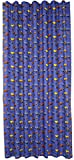 NOVUM fix Kinder-Gardine Vorhang Cars Kinderzimmer Blickdicht, 100% Reine Baumwolle Bedruckt (140x175cm)