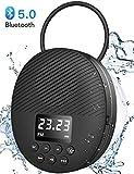 AGPTEK Enceinte Bluetooth 5.0 Portable, Radio de Douche Haut-Parleur Etanche IPX5 avec Ventouse et Lanière,LCD, Basse HD,...