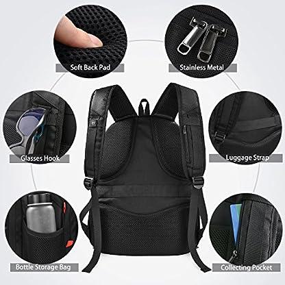51l5mjp67kL. SS416  - Mochila Portátil Hombre 17.3 Pulgadas Puerto USB Impermeable Trabajo Ordenador Viaje Negocio Multifuncional Daypacks Negro