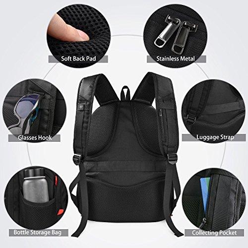 bc1d3a01dd Zaino Porta PC 17.3 Pollici Laptop Impermeabile USB Zaini Notebook Scuola  Viaggio Backpack Borsa Uomo Donna Nero