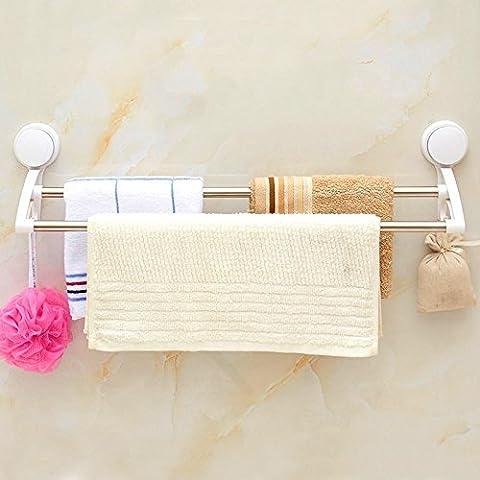 ZHANGYONG*Acciaio inossidabile bagni doppia aspirazione bar portasciugamani parete WC asciugamani da pinzare