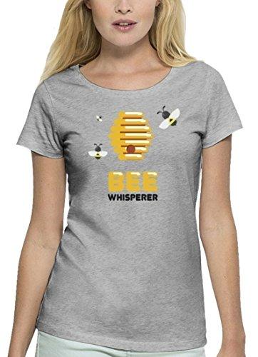 Imker Premium Damen T-Shirt aus Bio Baumwolle Bee Whisperer Stanley Stella Heather Grey