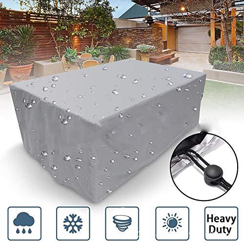 KAILUN Gartenmöbel-Set Abdeckung, 210D Oxford Stoff wasserdicht Schutzhülle, für Terrasse Tisch und Stühle, Anti-Verblassen, Möbel Schutzhülle,150 * 150 * 75CM -