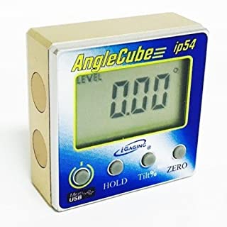 Igaging Rechargable Digital Angle Cube Sensor Level & Bevel & Tilt Gauge 3 in 1 35-2268