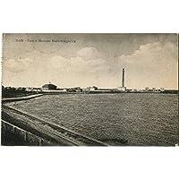 1918 Bari - Vista del Faro e della Stazione Radio-Telegrafica - FP B/N VG Cartolina Postale - Faro Storico Collezione