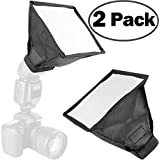 """2Pack ChromLives Flash Diffuser Light Softbox Collapsible With Storage Pouch 6""""x 6.8"""" For DSLR Camera Canon Nikon Yongnuo Flash Speedlight And Other DSLR Camera Flashes"""