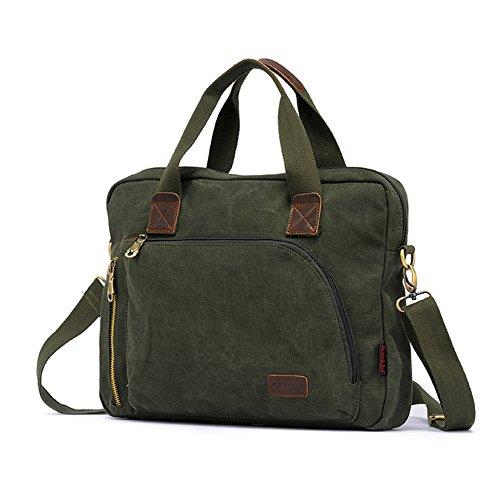 YAAGLE Qualitätsartikel Herren schick Business Taschen Freizeit Kuriertasche Umhängetasche Schultertasche Handtasche Aktentasche Reisetasche-khaki armee-grün