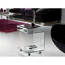 SCHULLER - Mueble Auxiliar - Mesa Auxiliar Glass Cuadrada - iBERGADA