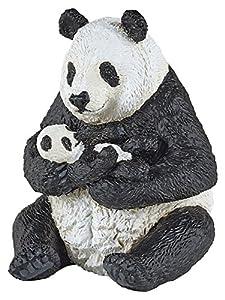 Papo- Figura Oso Panda Sentado con cria 6X7X8CM, (50196)