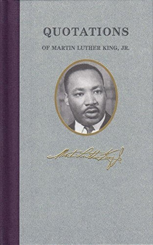 Quotations of Martin Luther King (Great American Quote Books) by Martin Luther, Jr. King (2001-01-02) par Jr. King Martin Luther