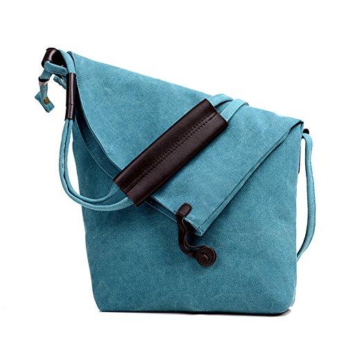 SSMK  Messenger Shoulder Bag, Borsa Messenger  Donna Blau