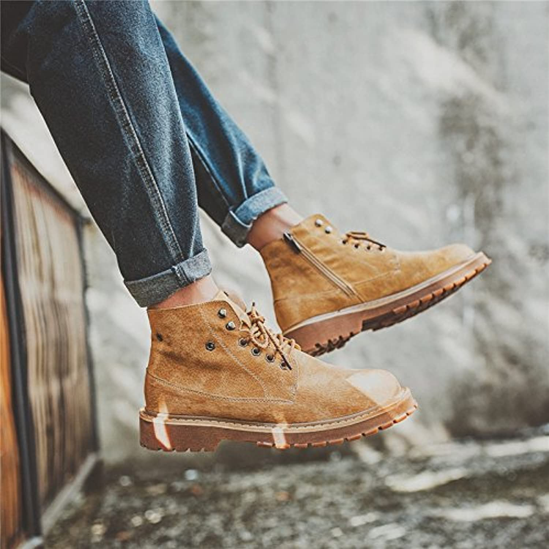 HL PYL   Koreanische hohe Stiefel Stiefel Stiefel Stiefel Gesellenpruumlfung Retro Martin Männer kurze Stiefel  43