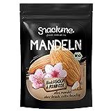 ✅ Gesunde Bio Mandeln Nüsse, Mandelkerne 500g ohne Schale mit Haut und ohne Salz in bester Rohkost-Qualität aus Spanien