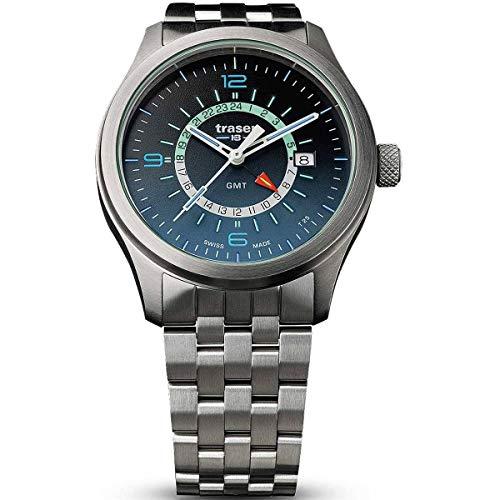 traser H3 Herrenuhr P59 Aurora GMT Blue Stahlband 107036