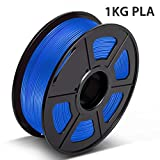 PLA Filament Blue, 3D Hero PLA Filament 1.75mm,PLA 3D Printer Filament, Dimensional Accuracy +/- 0.02 mm, 2.2 LBS(1KG),1.75mm Filament, Bonus with 5M PCL Nozzle Cleaning Filament
