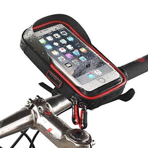 DUBAOBAO Fahrradlenker Tasche, Fahrrad-Telefonhalter iPhone 7 Plus 6S 6 Plus 5 5S Samsung Galaxy S8 S7 Edge S6 Edge Plus S5 Note 3 4 5 HTC Huawei Xiaomi Oneplus Google Nexus 5 4 Smartphone Bis 6 Zoll