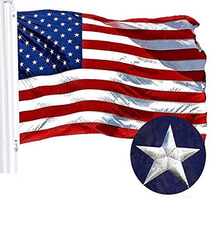Vaycally Nylon amerikanische Flagge Nationalflaggen Stickerei Sterne Nähen gestreiften Messingring Banner mit lebendigen Farben und verblassen beständig -