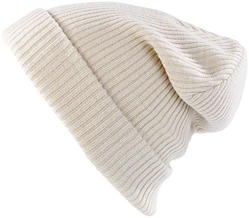 Preisvergleich Produktbild PEARL urban Mütze: Extrawarme Strickmütze,  wollweiß (Strickmützen Beanie)