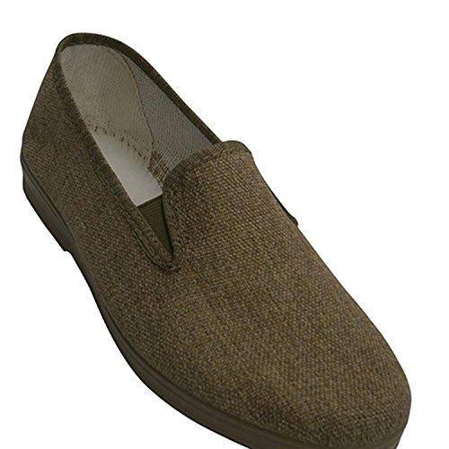 Scarpe di tela con gomma sui lati Chapines tostato taille 44