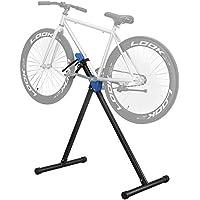 SONGMICS Soporte para reparar bicicletas Uso doméstico Caballete para bicicleta plegable Plataforma de reparación profesional Ligero Portátil Negro SBR01B