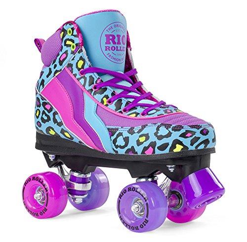 Rio Roller Blue Leopard Quad Roller Skates UK 6 for sale  Delivered anywhere in UK