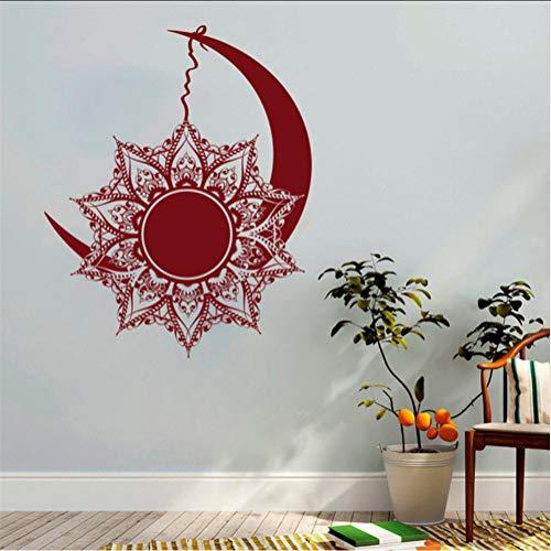 Chellonm Luna Y Sol Calcomanías De Pared Etiqueta De Mandala Símbolo